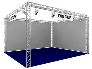 Messestand Rigger
