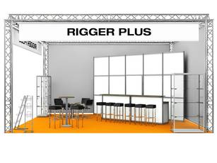 Messestand Rigger Plus